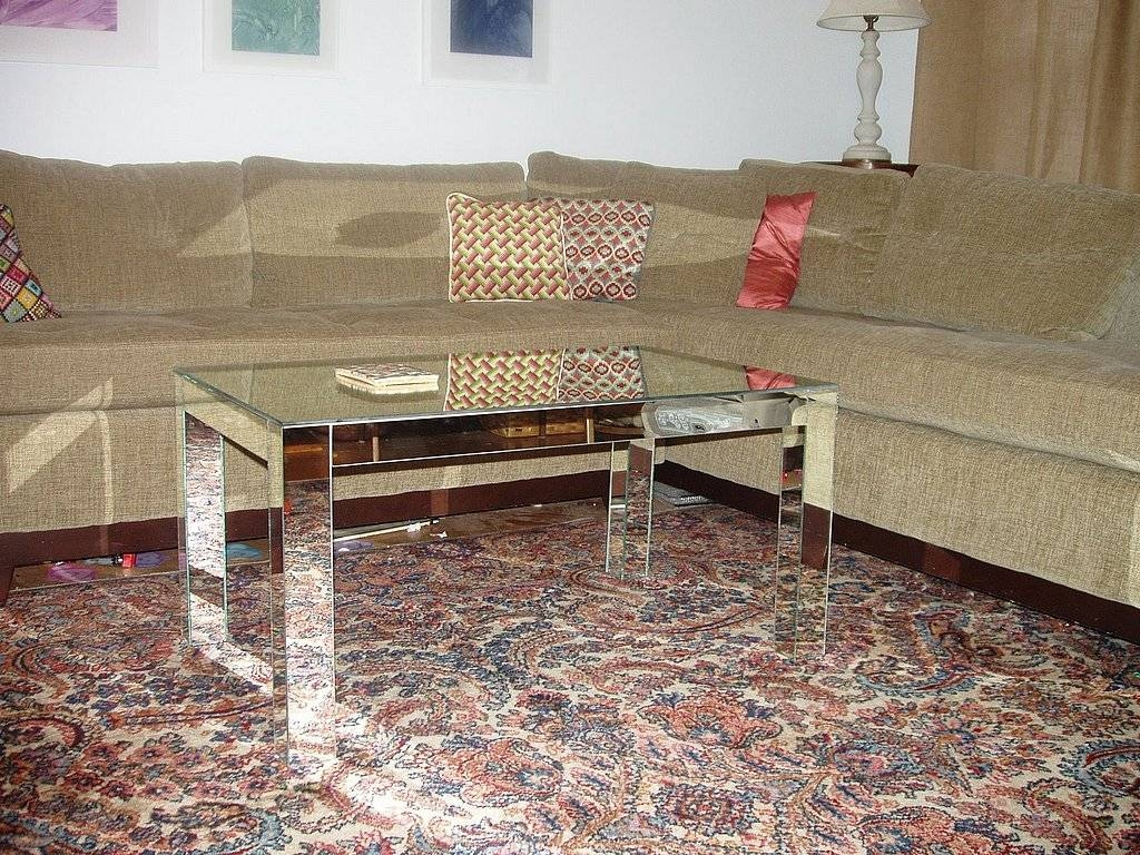 Diy Mirrored Coffee Table With Four Legs regarding Coffee Tables Mirrored (Image 8 of 30)
