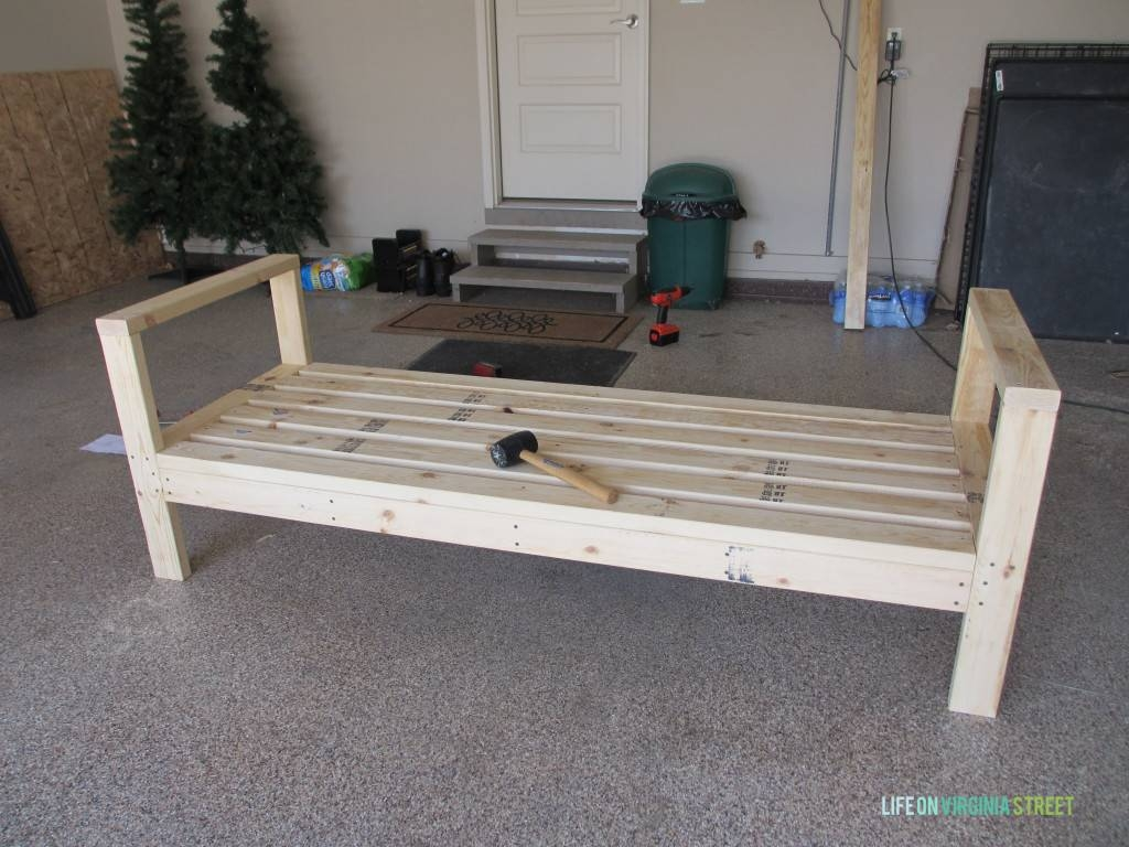 Diy Outdoor Couch - Life On Virginia Street with Diy Sofa Frame (Image 12 of 30)