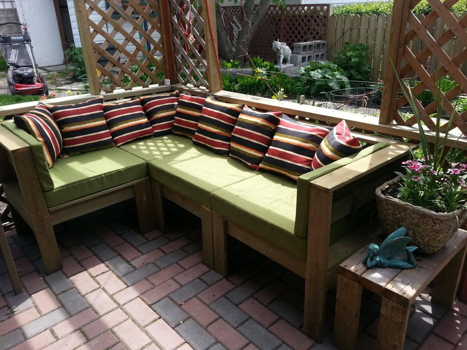 Diy Outdoor Sectional | Home Designfuller regarding Building a Sectional Sofa (Image 17 of 30)