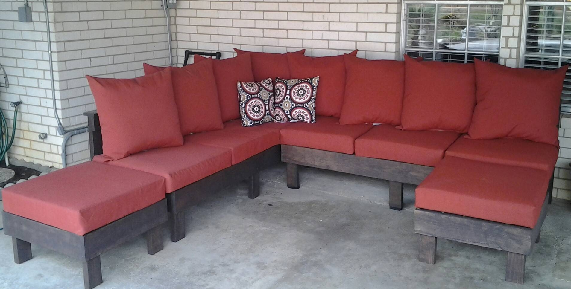 Diy Outdoor Sectional Sofa And Couch : Diy Ideas, Backyard Ideas intended for Building A Sectional Sofa (Image 16 of 30)