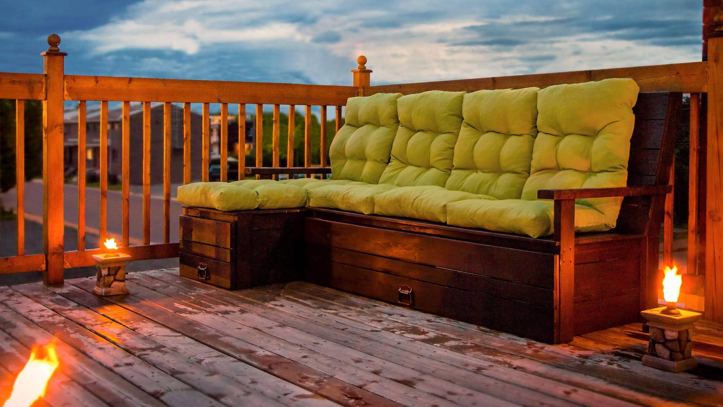 Diy Outdoor Wood Sectional Sofa/bench With Storage - Construction within Building A Sectional Sofa (Image 18 of 30)