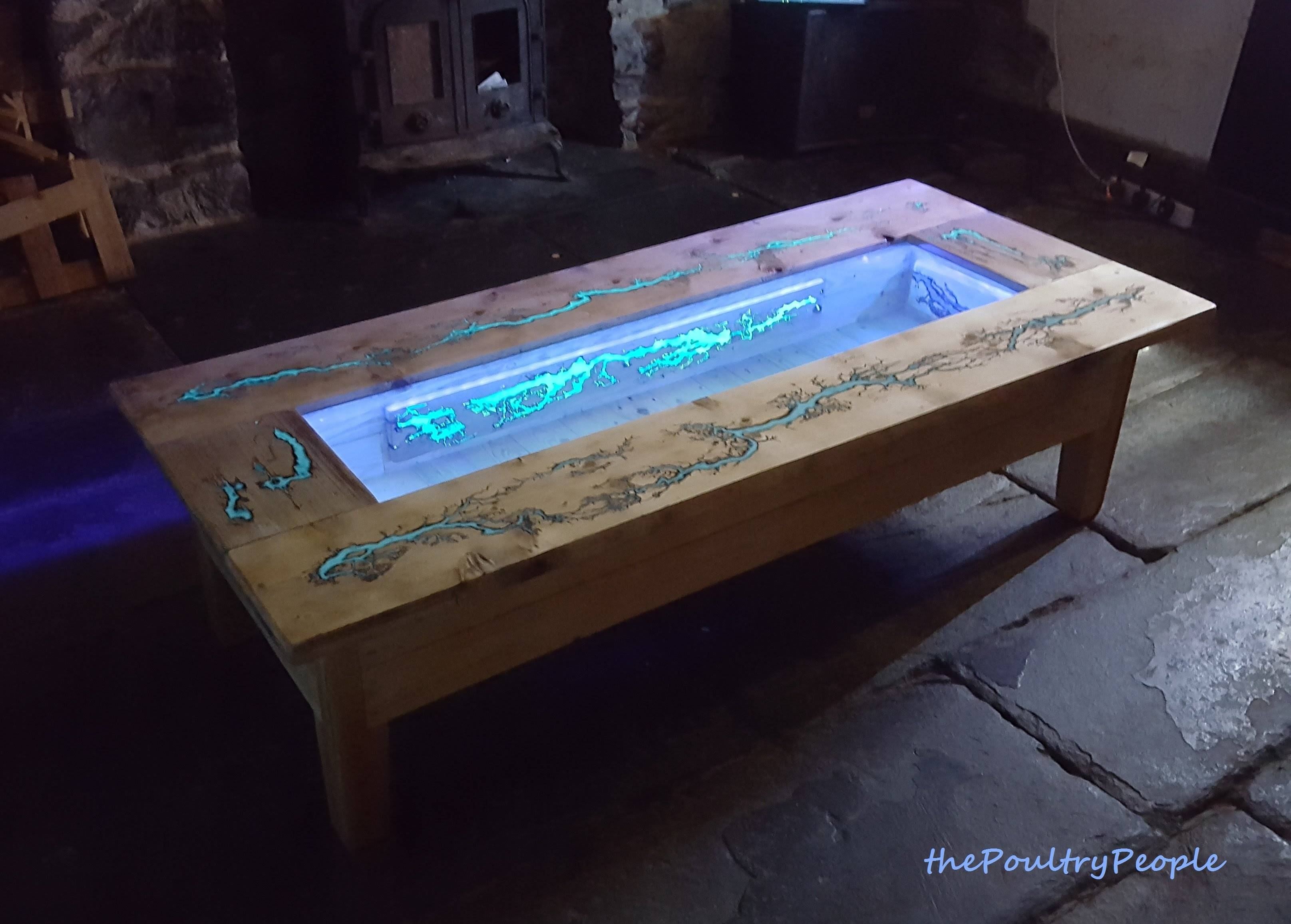 Diy Pallet Coffee Table - Glow In The Dark Wood Projects With regarding Led Coffee Tables (Image 9 of 30)
