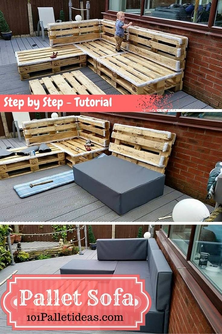 Diy Pallet Sectional Sofa : Tutorial with Building A Sectional Sofa (Image 19 of 30)