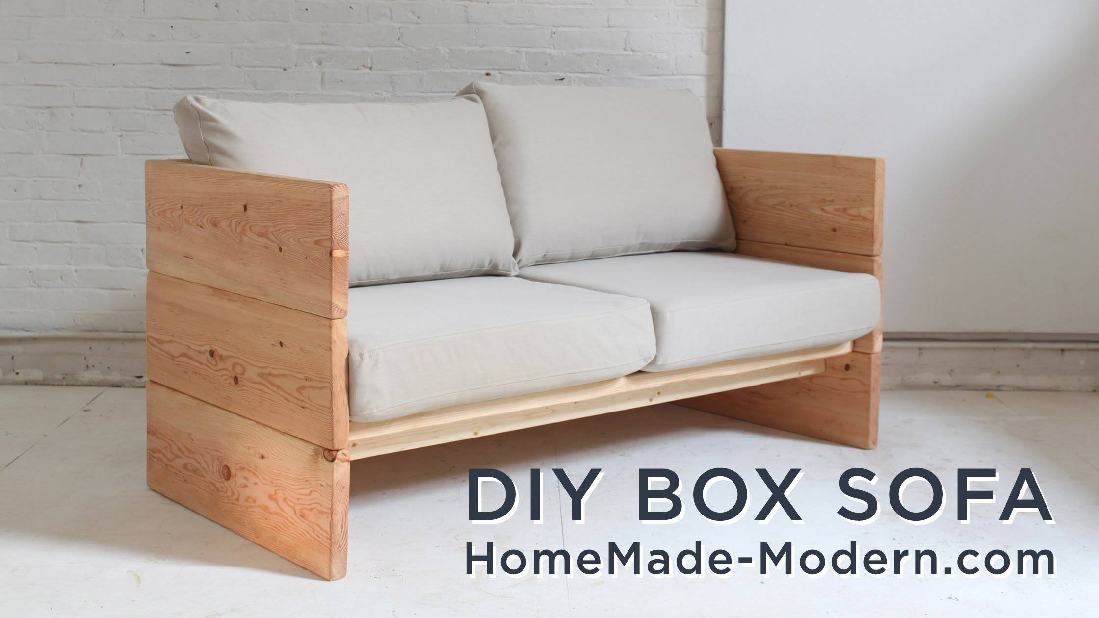 Diy Sofa Made Out Of 2X10S - Youtube in Diy Sleeper Sofa (Image 12 of 30)