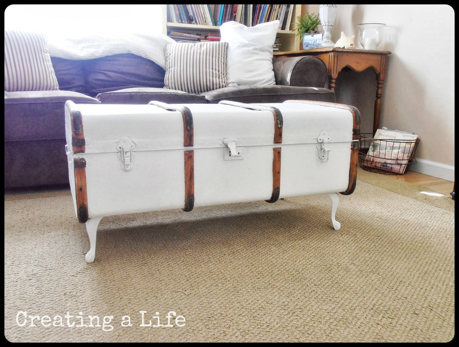 Diy Steamer Trunk Coffee Table | Coffeetablesmartin - Tables for Trunk Coffee Tables (Image 10 of 30)