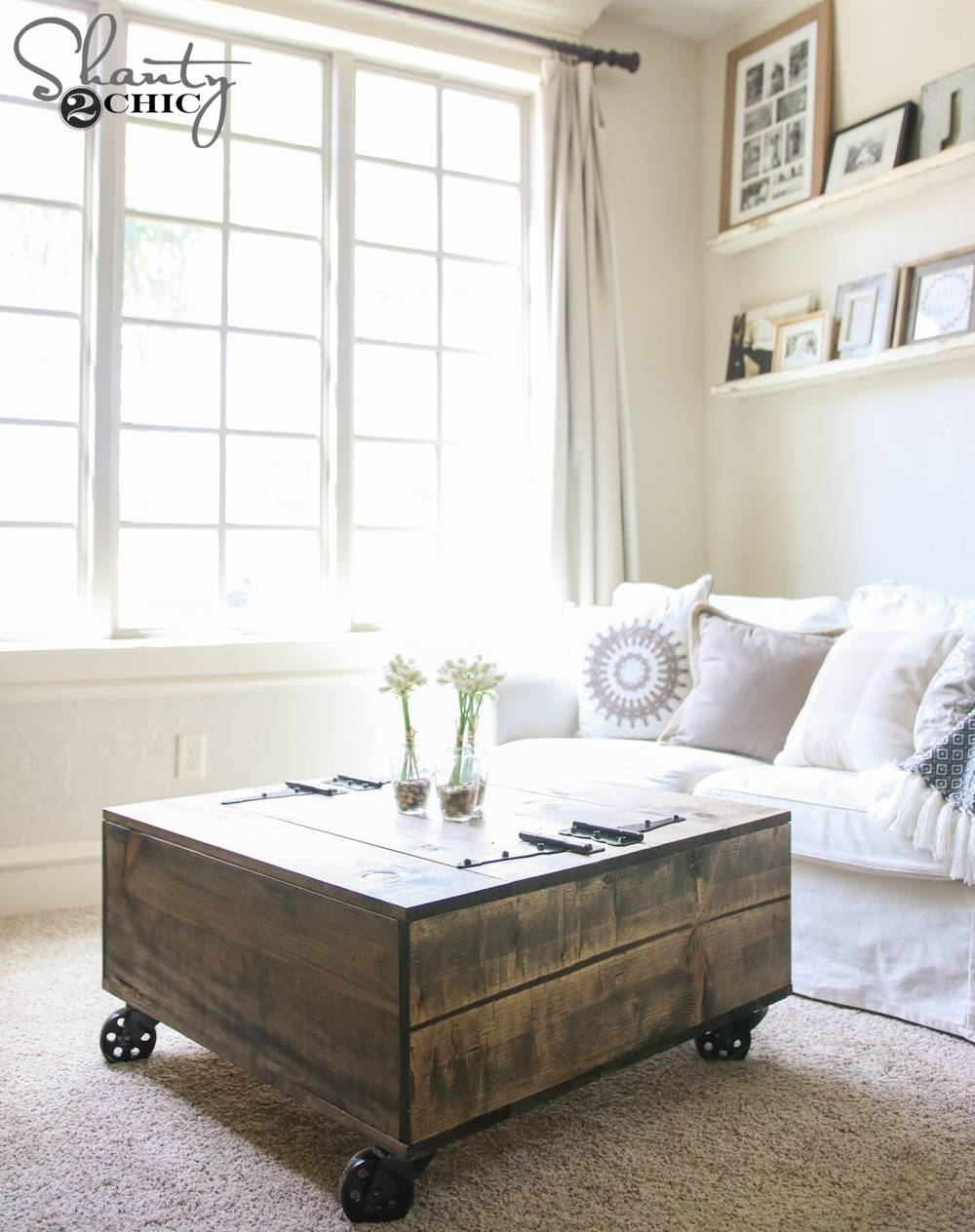 Diy Storage Coffee Table & Youtube Video Tutorial! – Shanty 2 Chic Intended For Storage Coffee Tables (View 16 of 30)