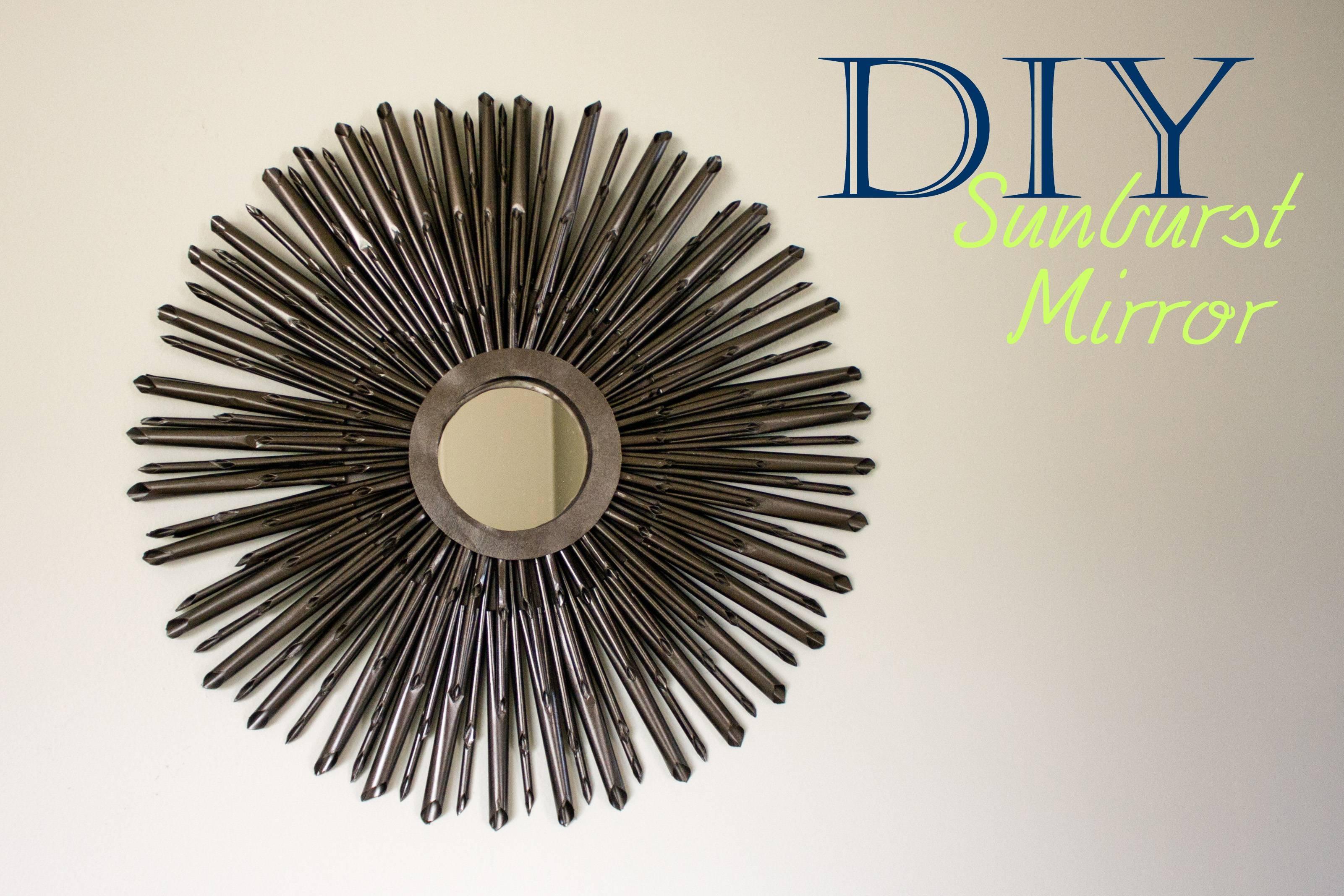 Diy Sunburst Mirror {Tutorial} | A Little Abandon Pertaining To Bronze Starburst Mirrors (View 11 of 25)