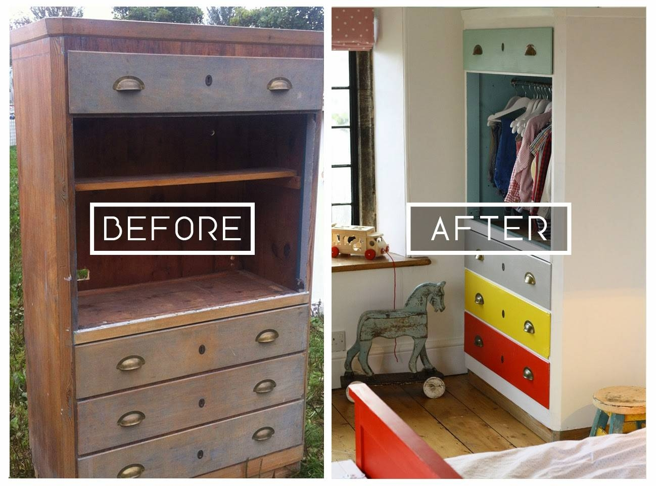 Diy// Upcycle // Converting A Tallboy Into A Children's Wardrobe throughout Childrens Tallboy Wardrobes (Image 7 of 15)