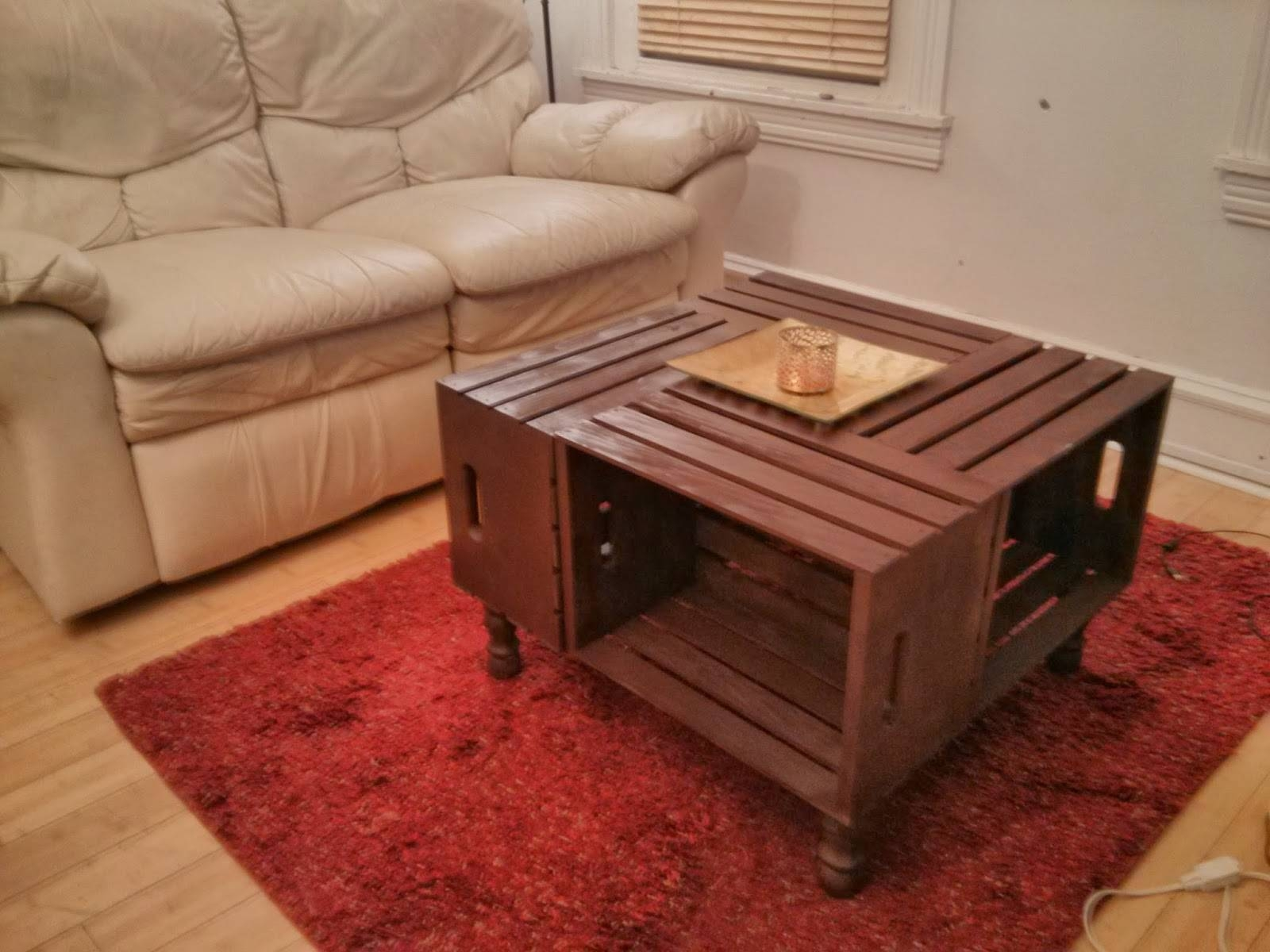 Diy Wooden Crate Coffee Table Fabulous Square Coffee Table On regarding Red Round Coffee Tables (Image 10 of 30)