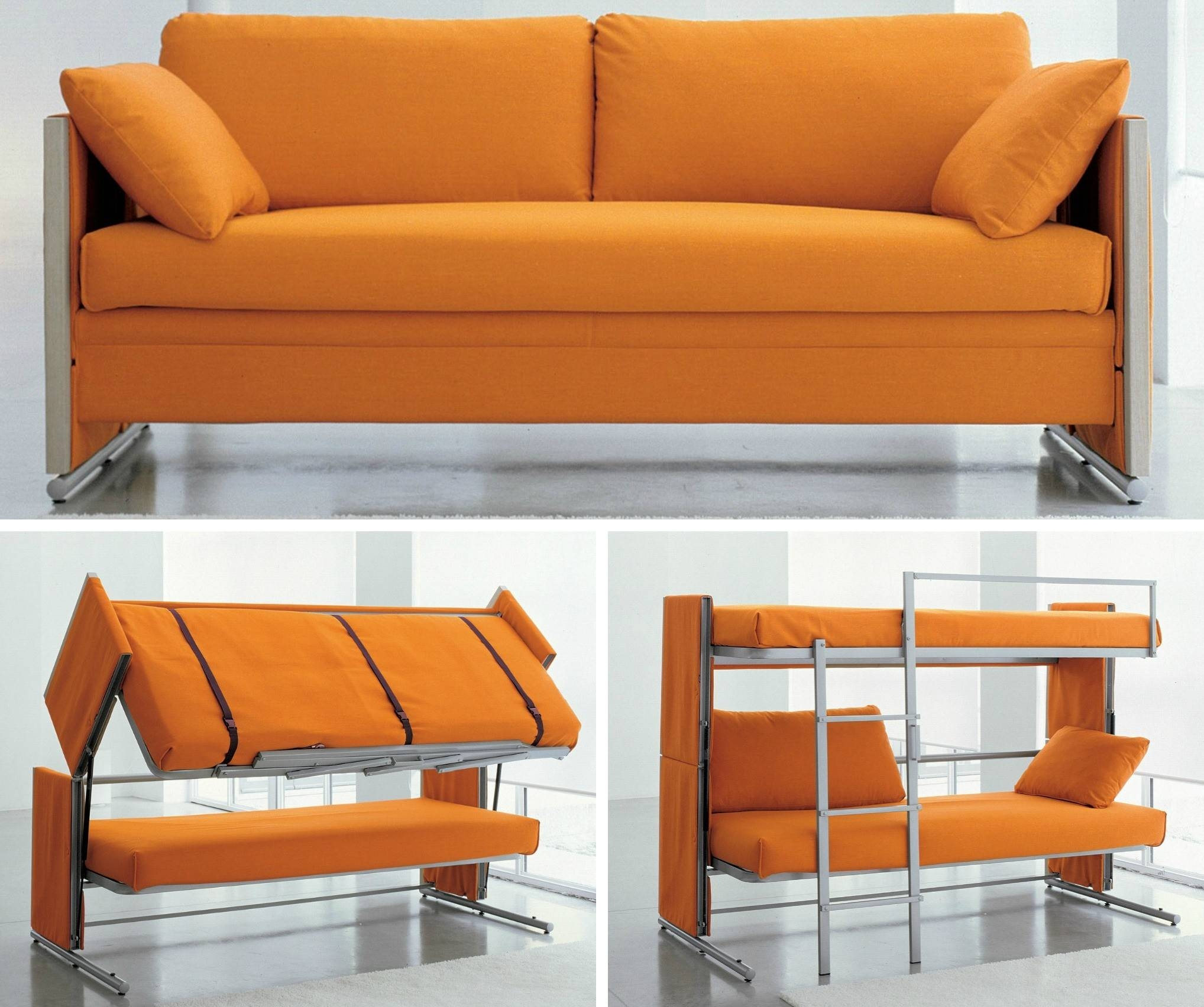 Doc Transforms From Sofa To Bunk Beds With One Swift Motion | 6Sqft inside Sofa Bunk Beds (Image 12 of 30)