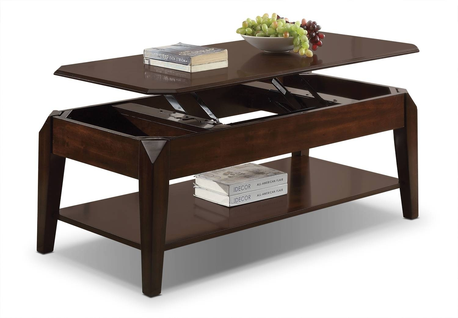 Docila Lift-Top Coffee Table - Espresso | Leon's pertaining to Rising Coffee Tables (Image 12 of 30)