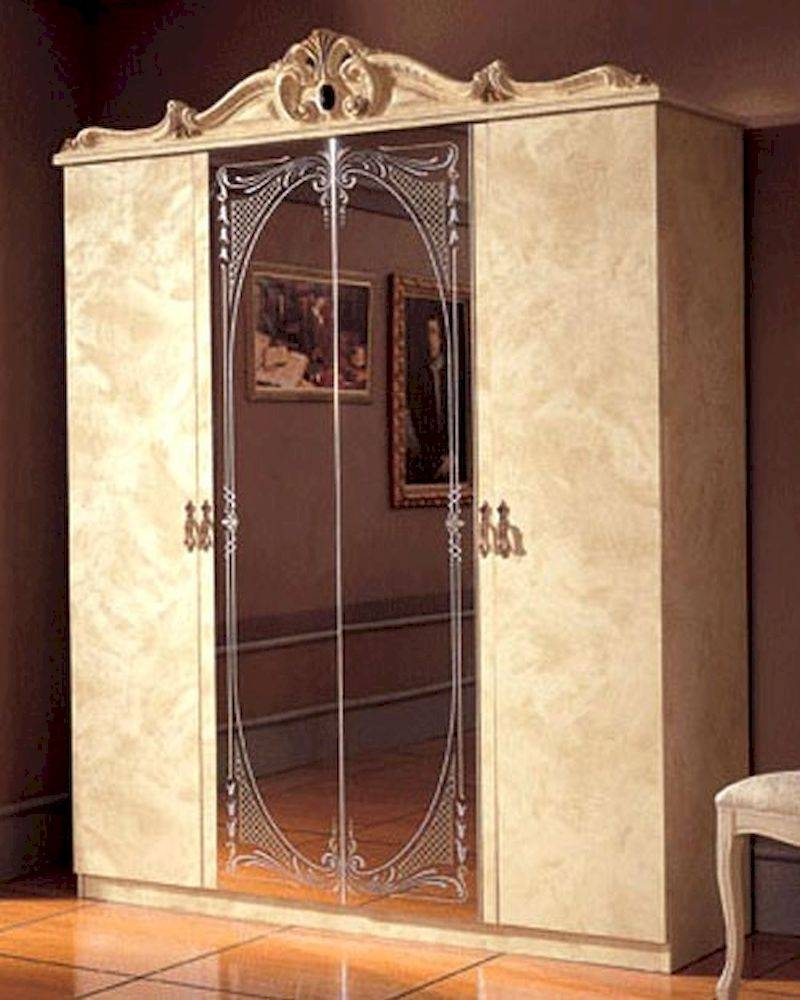 Door Wardrobe Ivory Baroque Classic Style Made In Italy 33B4110 in Baroque Wardrobes (Image 12 of 15)