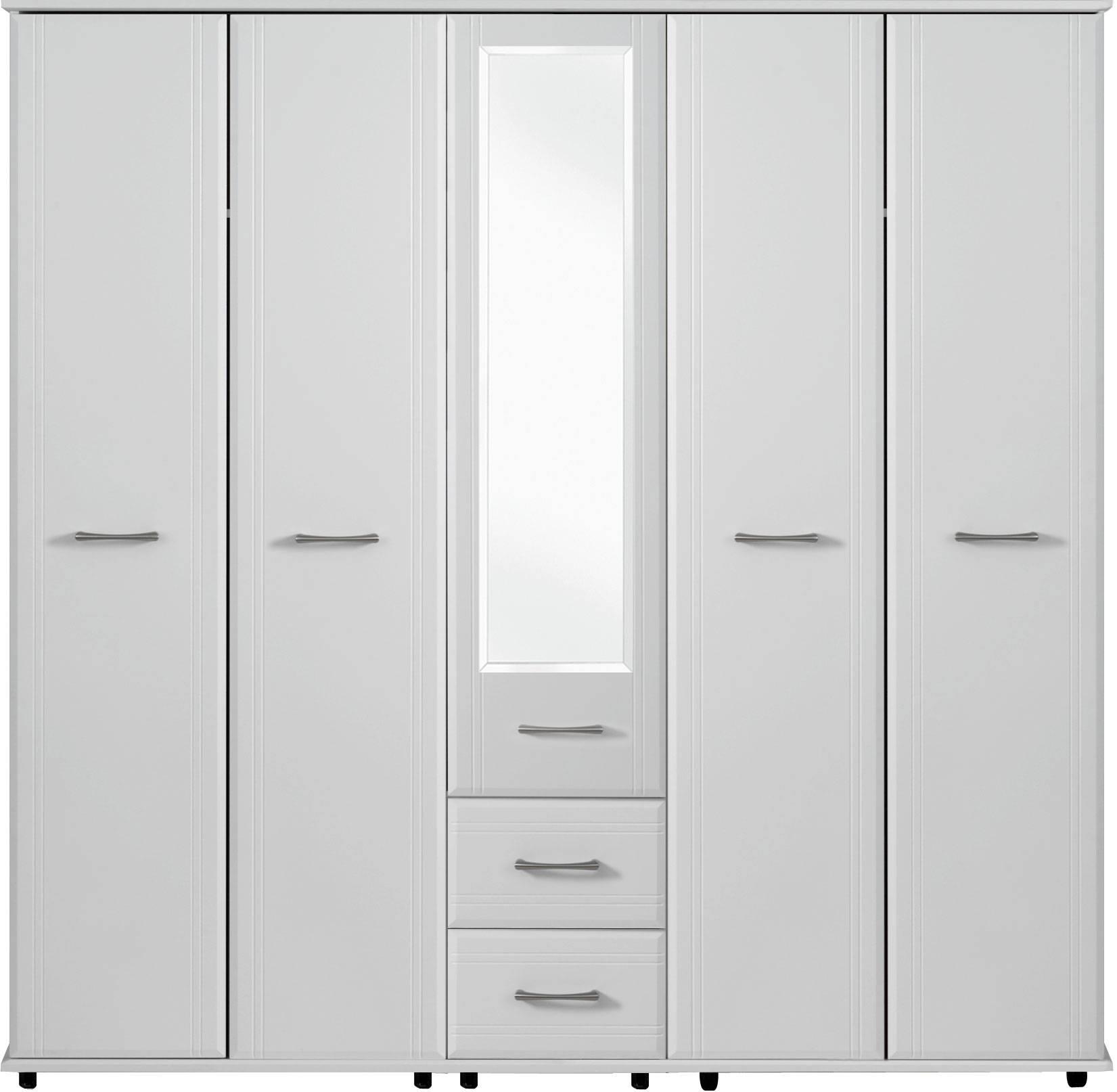 Dorchester 5 Door Wardrobe 1 Mirror 2 Drawers | Crendon Beds in 4 Door Mirrored Wardrobes (Image 5 of 15)