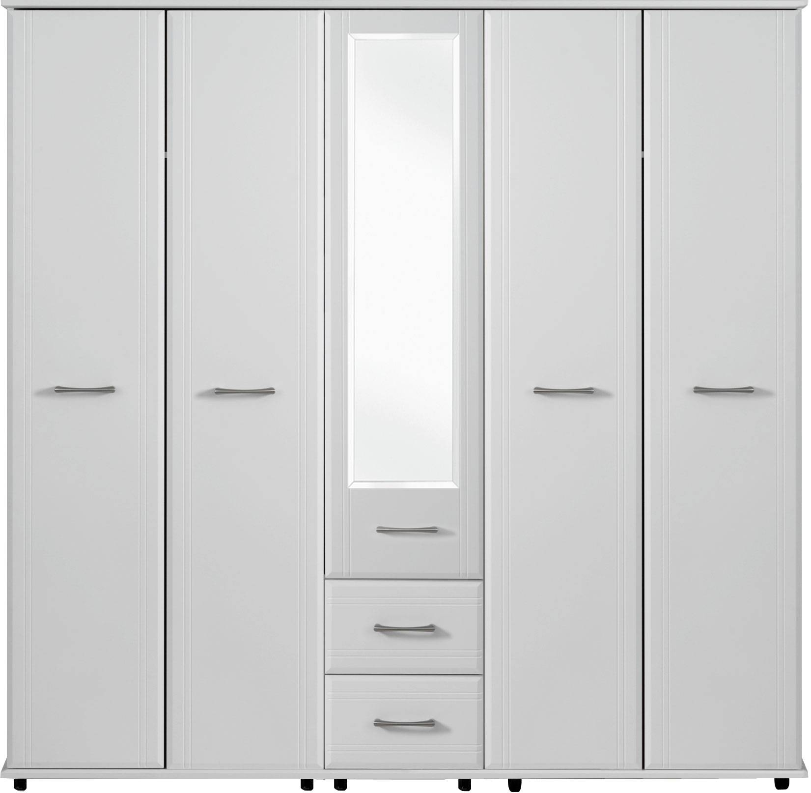 Dorchester 5 Door Wardrobe 1 Mirror 2 Drawers | Crendon Beds Regarding Wardrobes With Mirror And Drawers (View 4 of 15)