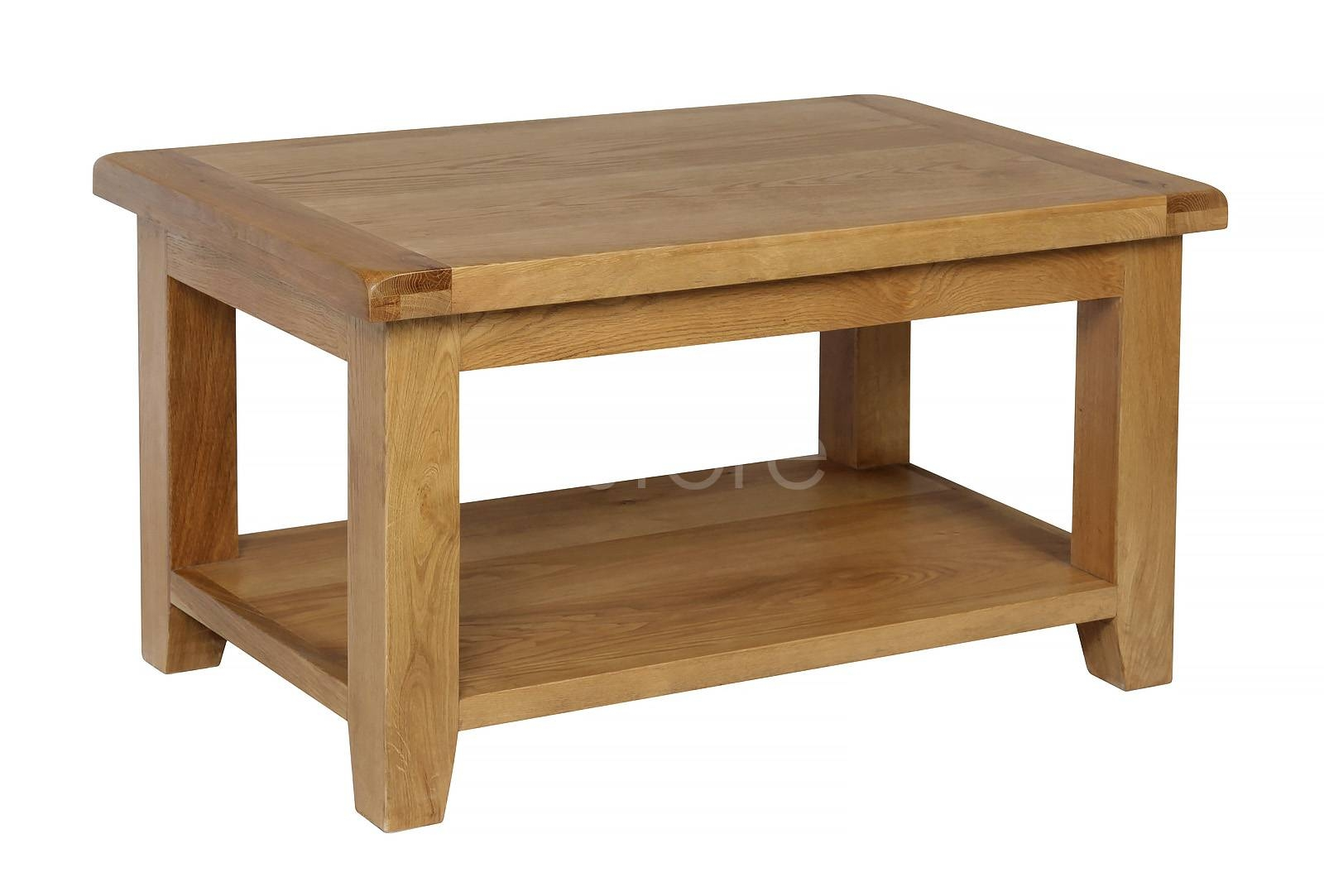 Dorchester Painted Small Coffee Table Oak Furniture Solutions Pertaining To Chunky Oak Coffee Tables (View 17 of 30)
