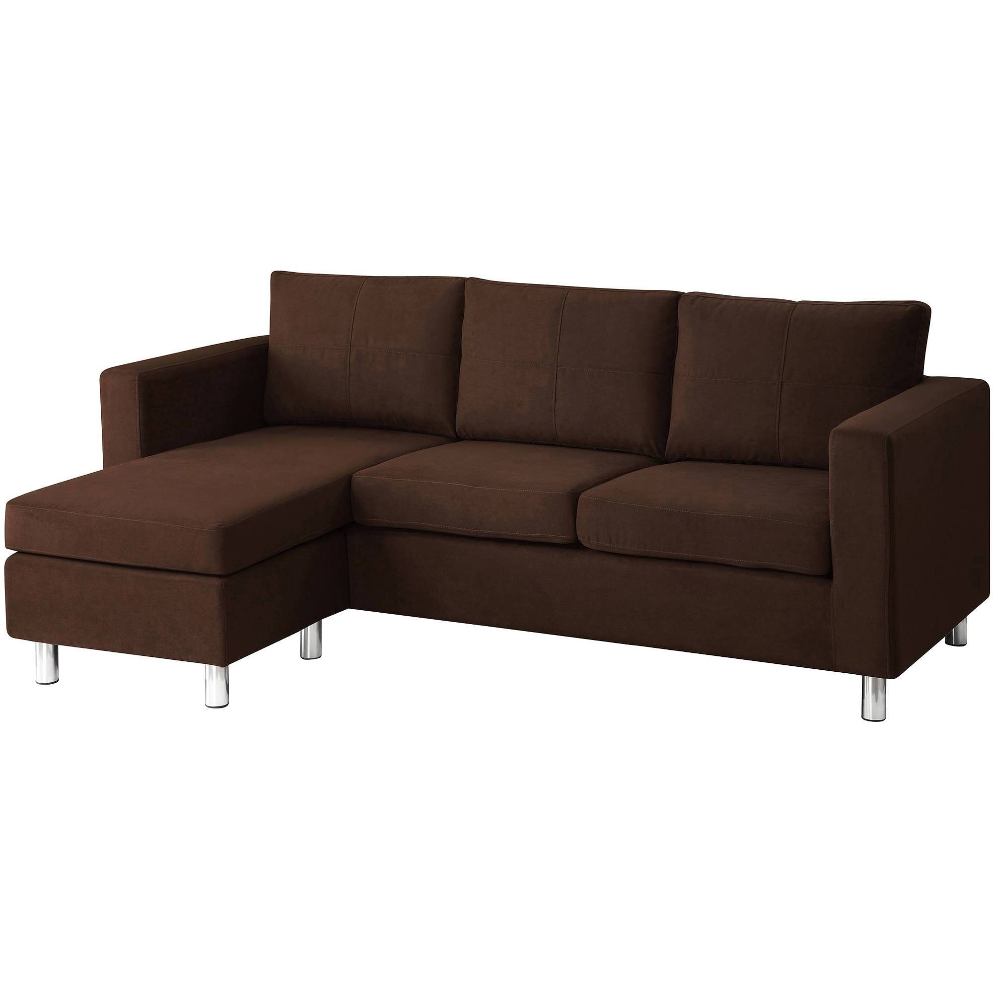 Dorel Home Small Spaces Configurable Sectional Sofa, Multiple inside Wallmart Sofa (Image 7 of 25)