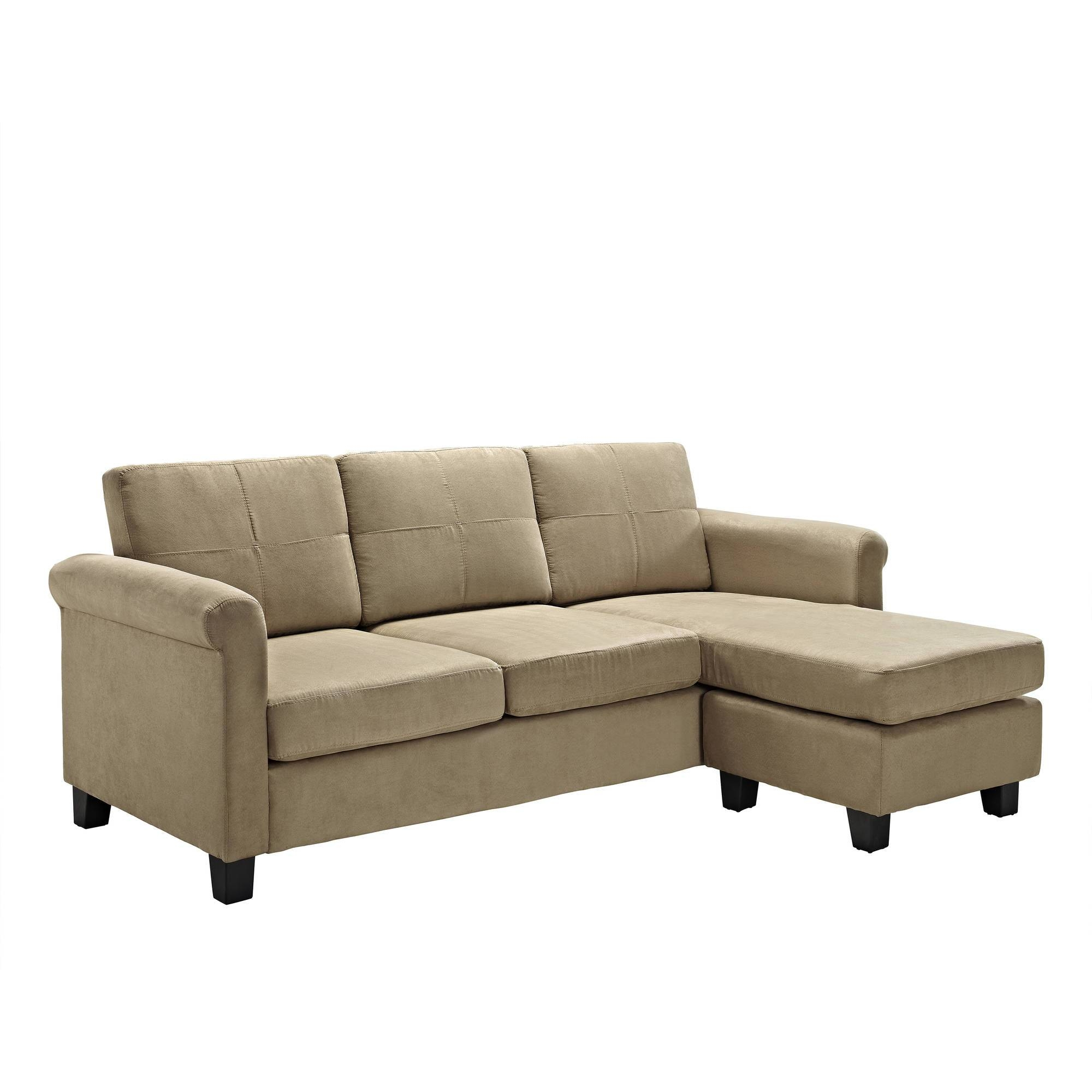 Dorel Living Small Spaces Configurable Sectional Sofa, Multiple inside Mini Sectional Sofas (Image 7 of 30)