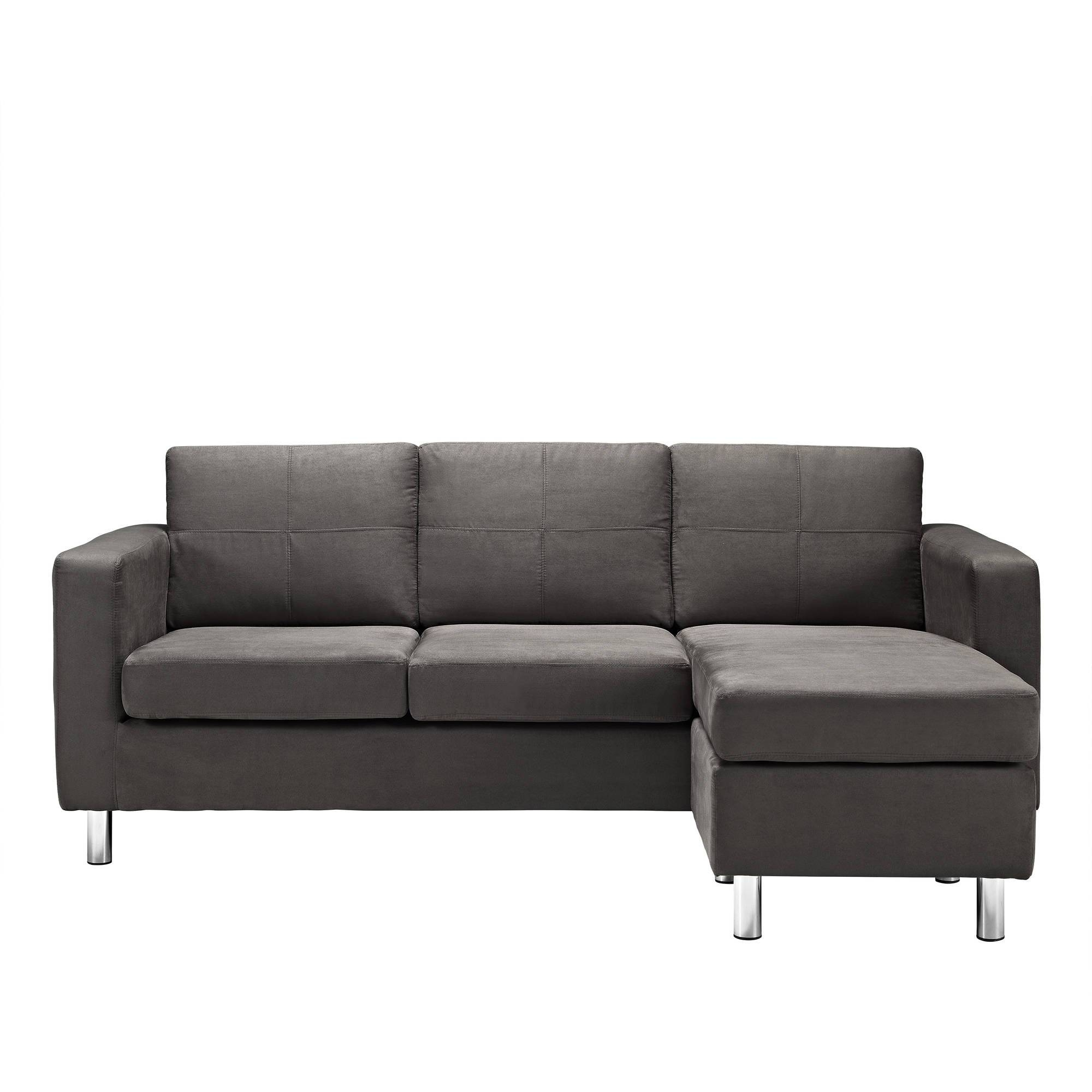 Dorel Living Small Spaces Configurable Sectional Sofa, Multiple throughout Small Sectional Sofas For Small Spaces (Image 10 of 25)