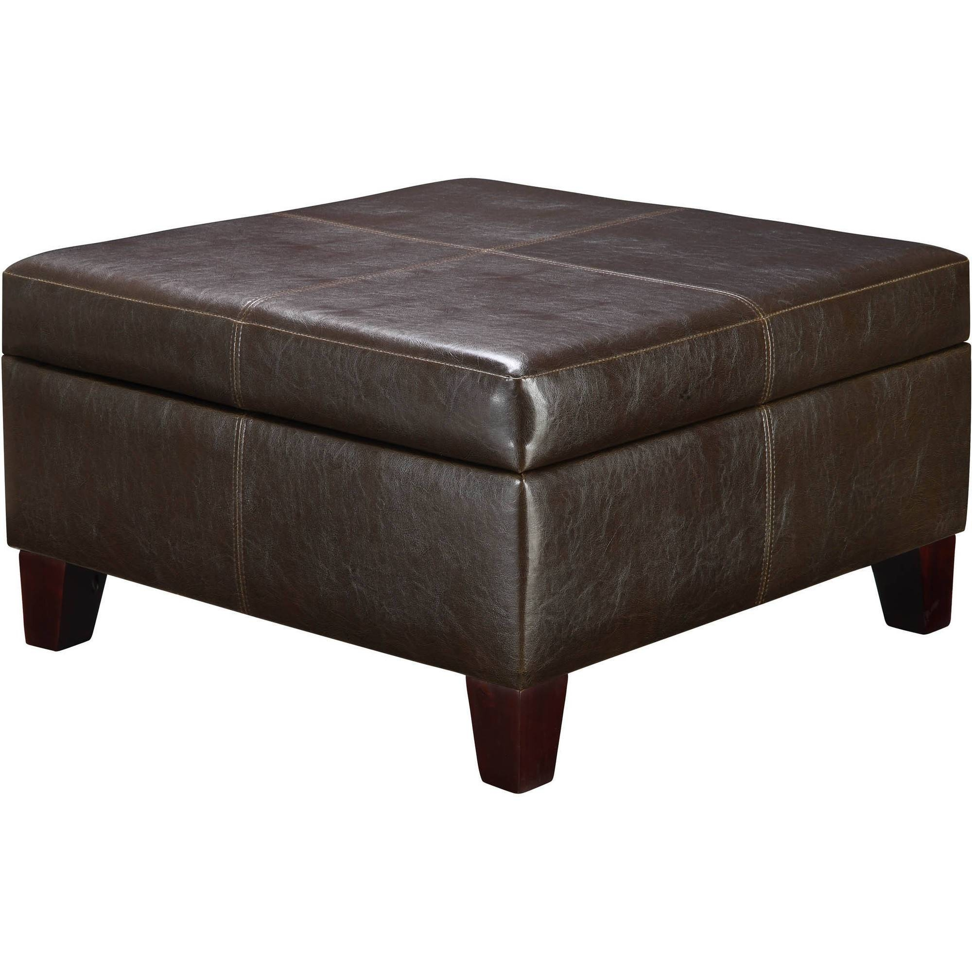 Dorel Living Square Storage Ottoman, Multiple Colors - Walmart with regard to Storage Coffee Tables (Image 17 of 30)