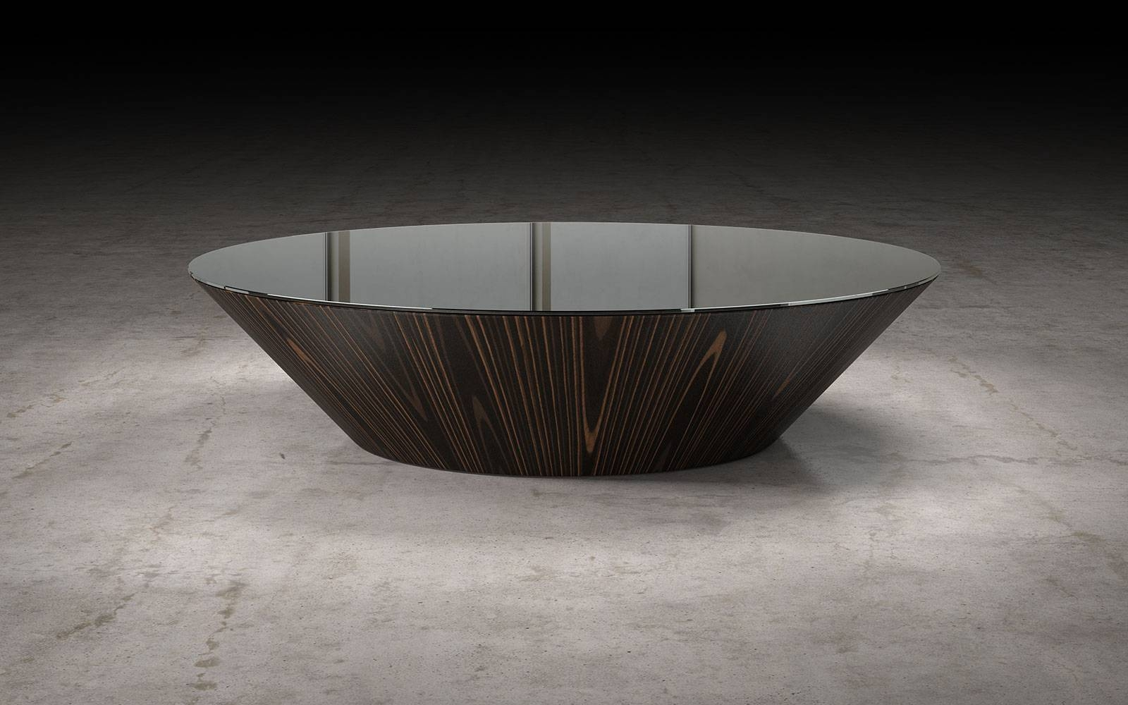 Dorset Coffee Table Black Glass On Cathedral Ebonymodloft with Black Glass Coffee Tables (Image 16 of 30)