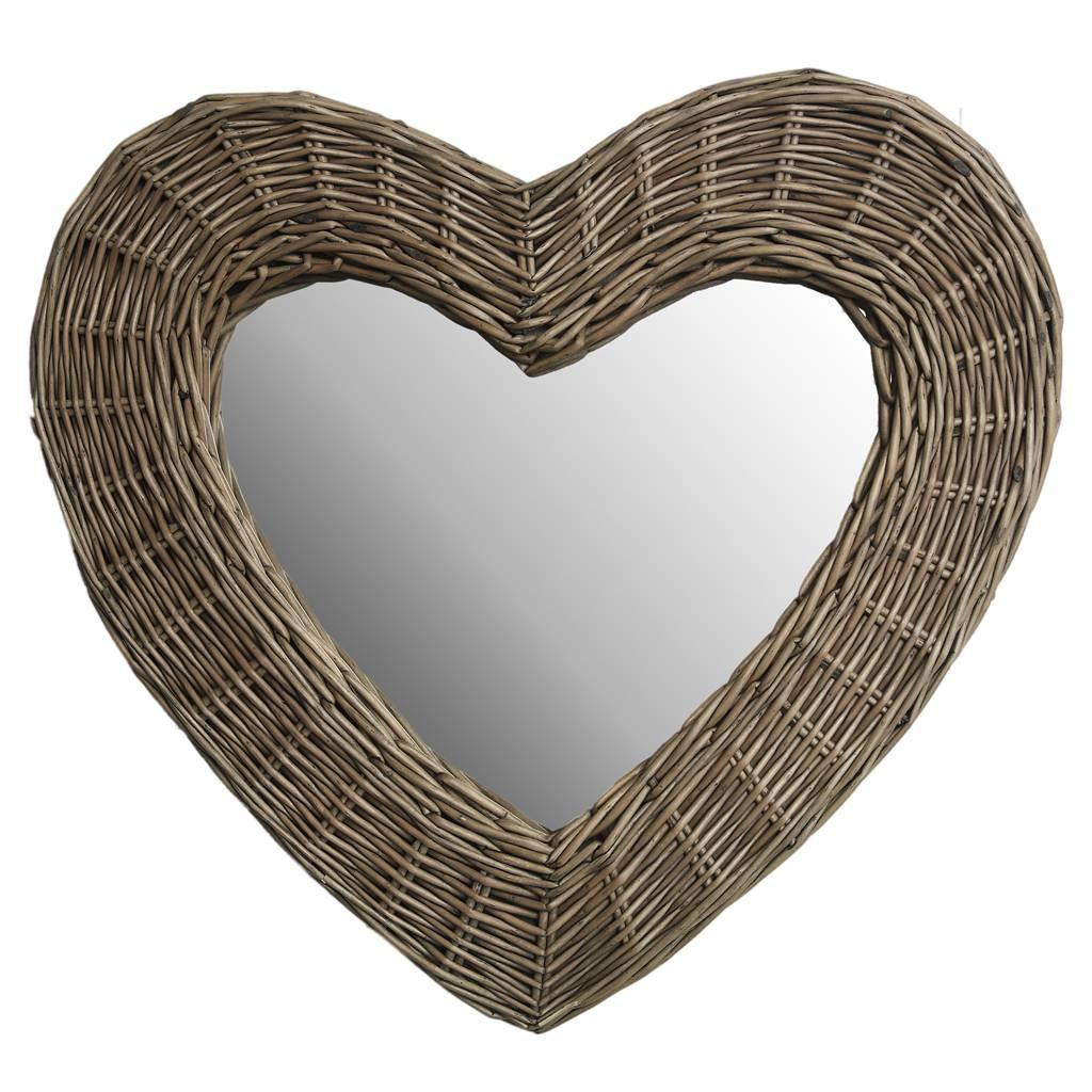 Dotcomgiftshop Wicker Heart Mirror. Natural Heart Wall Mirror Home within Heart Wall Mirrors (Image 9 of 25)