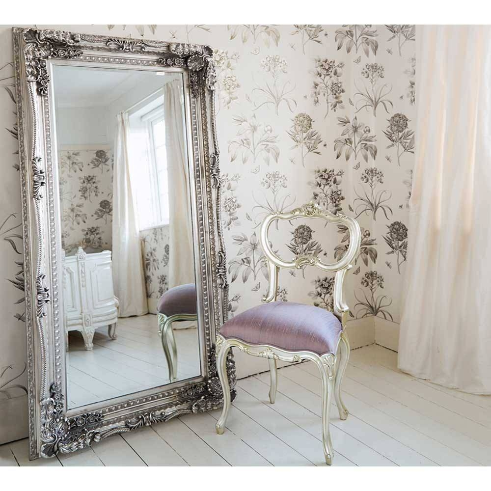 Double Framed Marquise Silver Mirror | Luxury Mirror Throughout Full Length Silver Mirrors (View 8 of 25)