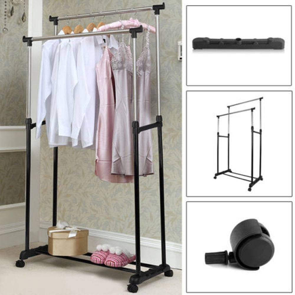 Double Hanging Rail | Ebay with regard to Double Black Covered Tidy Rail Wardrobes (Image 12 of 30)