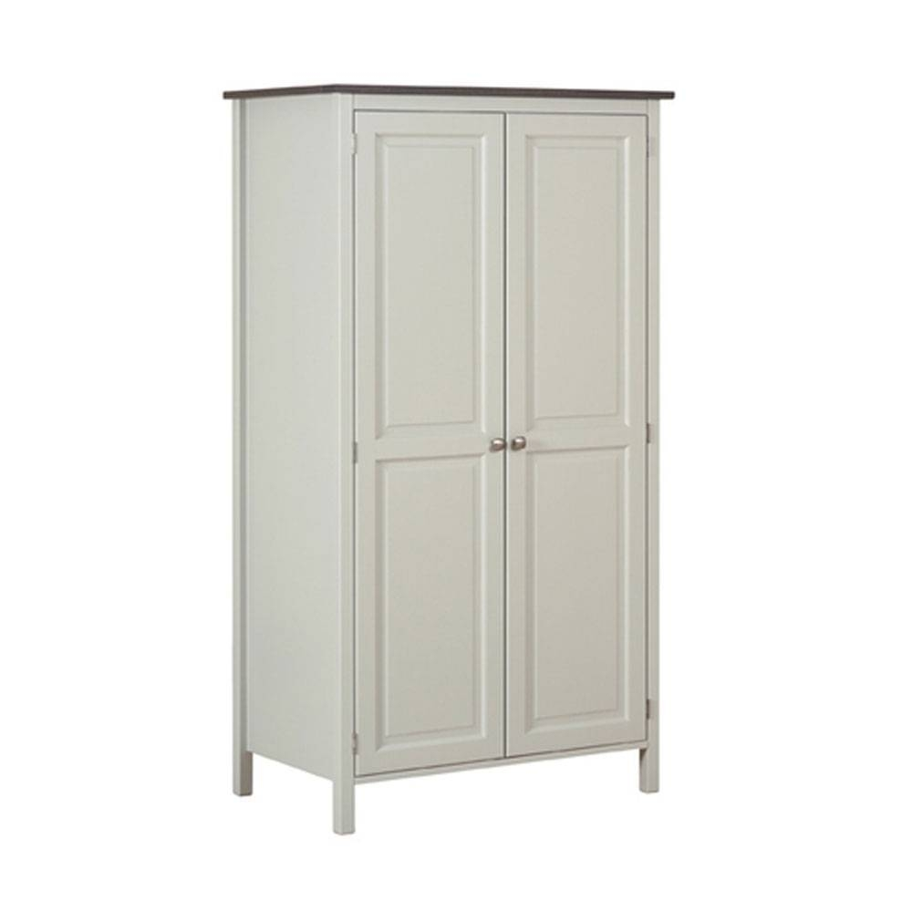 Double Hanging Wardrobe. Wardrobe Storage Closet With Hanging Rod inside Double Hanging Rail Wardrobes (Image 10 of 30)