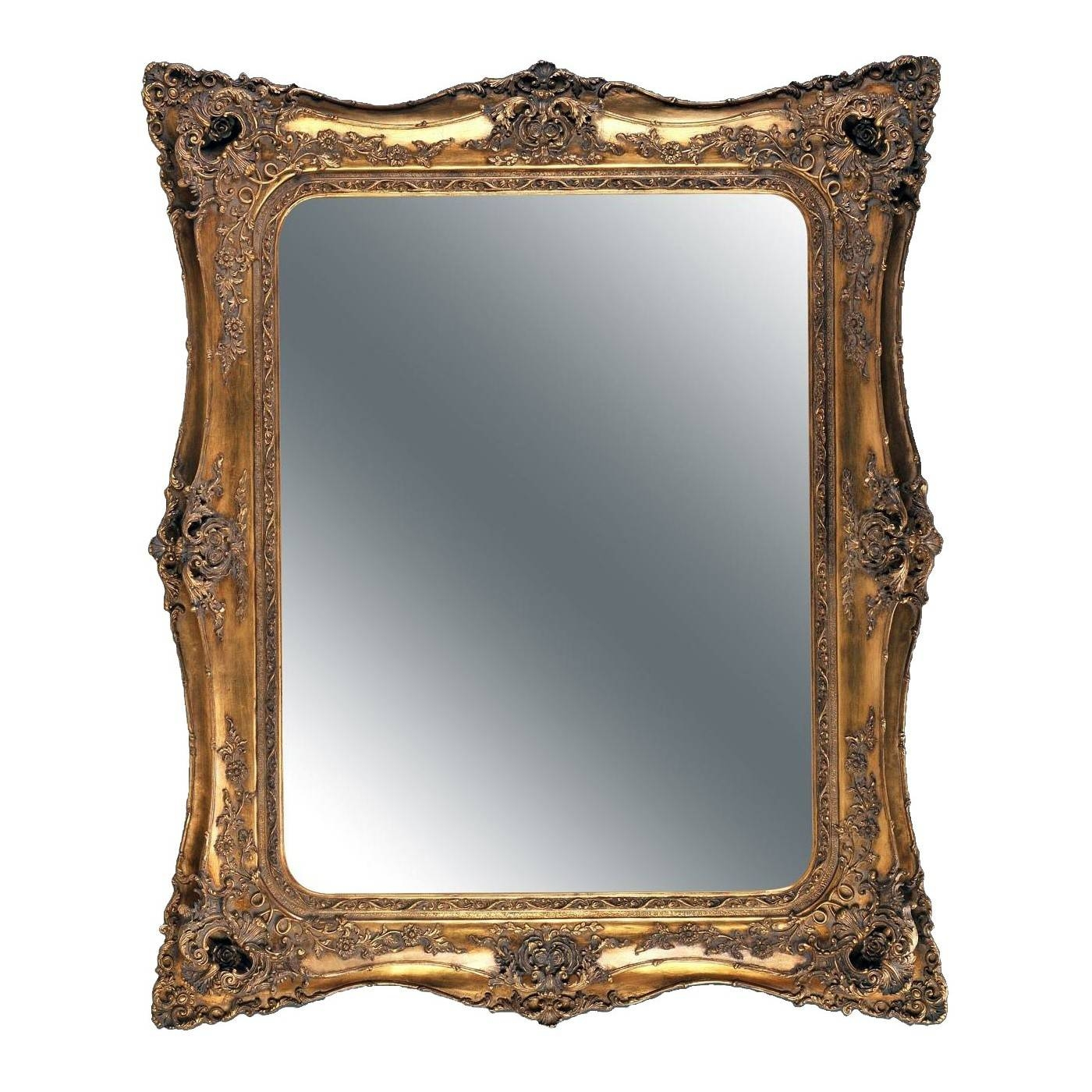 Double Level Ornate Mirror In Gold pertaining to Gold Ornate Mirrors (Image 7 of 25)