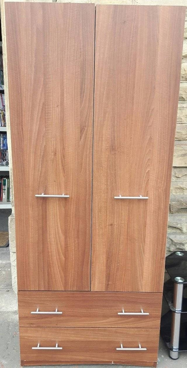 Double Rail Wardrobe - Second Hand Household Furniture, Buy And within Double Rail Wardrobe With Drawers (Image 9 of 30)