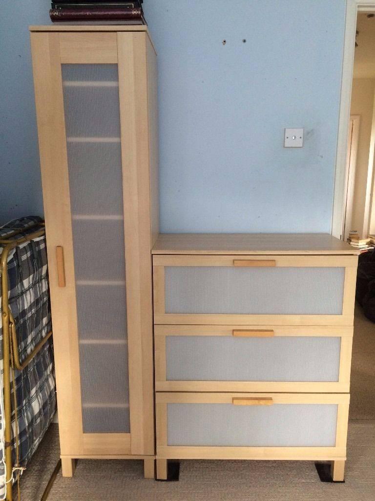 Double Wardrobe, Single Wardrobe, Chest Of Drawers (Ikea) | In In Single Wardrobe With Drawers And Shelves (View 12 of 30)