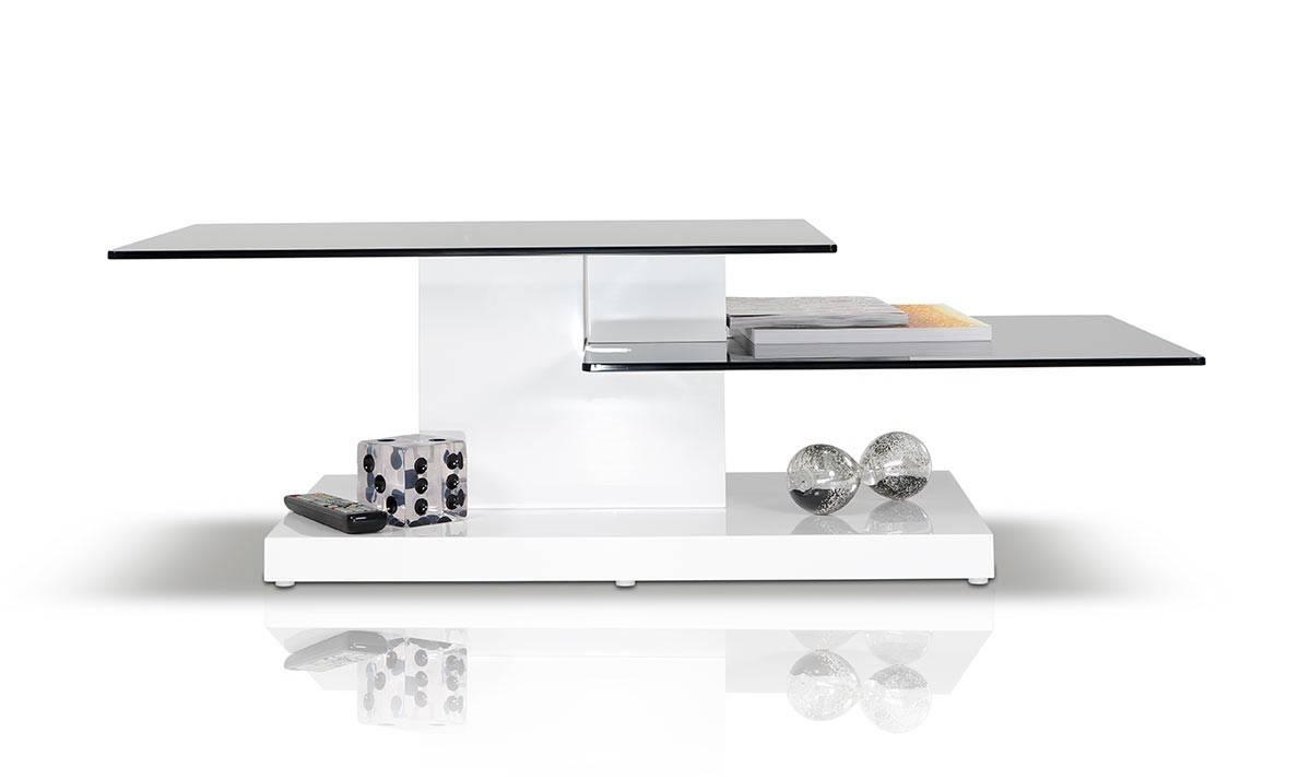 Dove Contemporary White High Gloss Coffee Table for High Gloss Coffee Tables (Image 7 of 30)