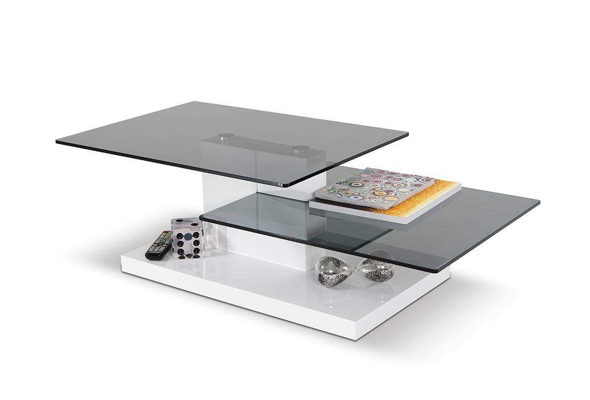 Dove Contemporary White High Gloss Coffee Table with White Gloss Coffee Tables (Image 11 of 30)