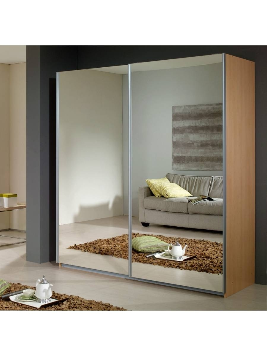 Dover Sliding Door Wardrobe With 2 Mirrors - Rauch Furniture with regard to Rauch Sliding Wardrobes (Image 3 of 15)