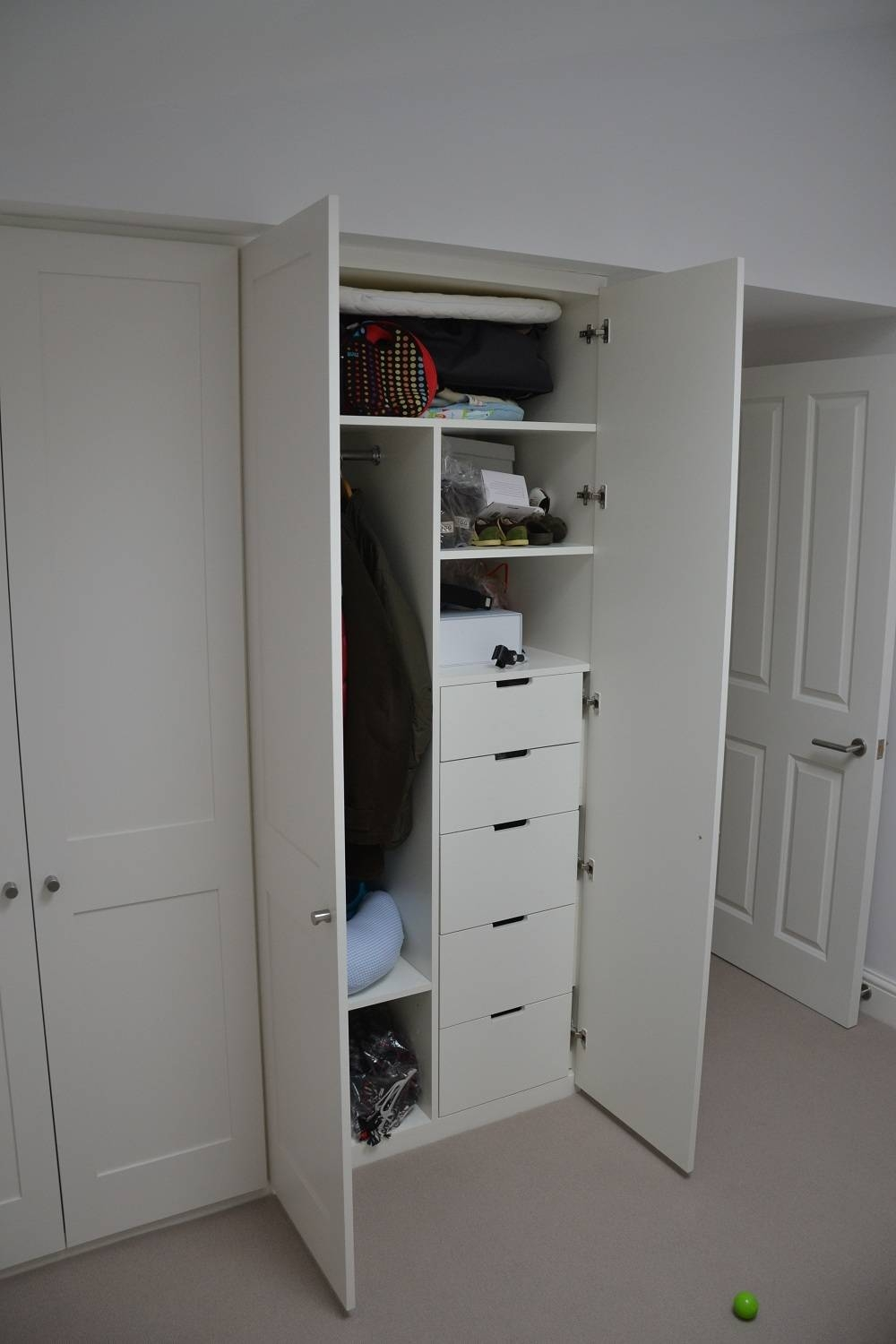 Drawers - Bespoke Fitted Furniture For London | Lahart Carpentry regarding Double Wardrobe With Drawers and Shelves (Image 13 of 30)