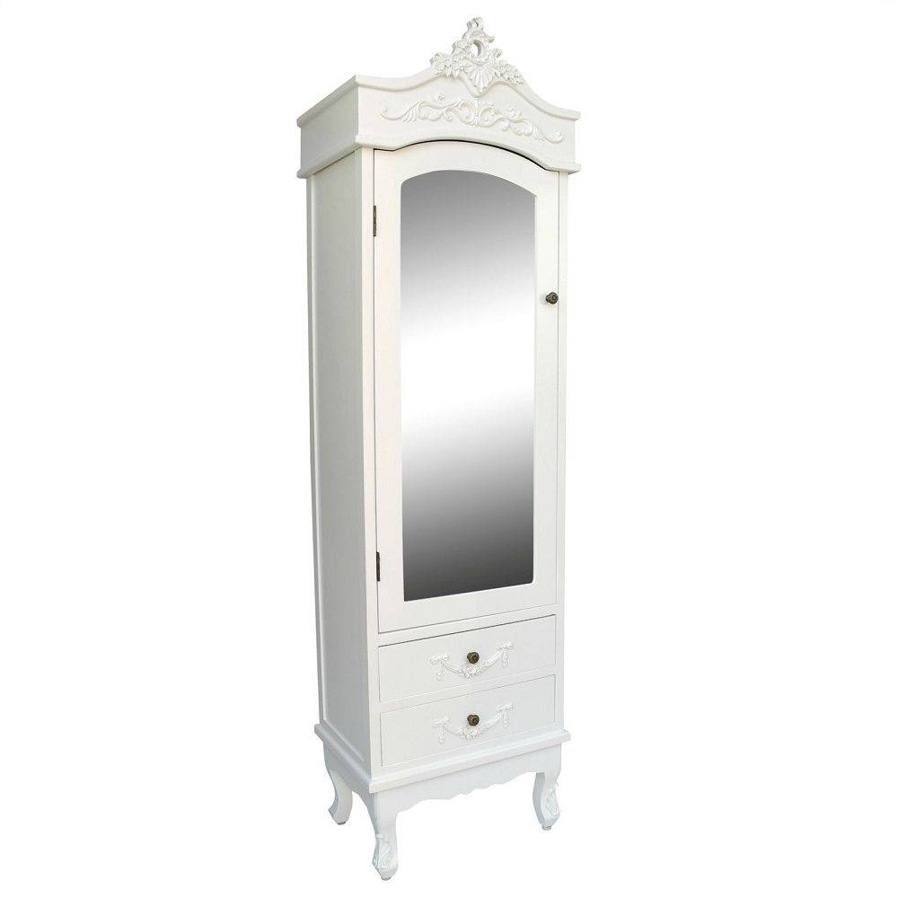 Drawers : French Style White Armoire With Drawers With 2 Antique pertaining to White Wardrobes French Style (Image 4 of 15)