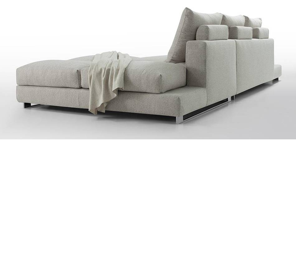 Dreamfurniture - Divani Casa Vasto - Modern Fabric Sectional in Down Feather Sectional Sofa (Image 10 of 30)