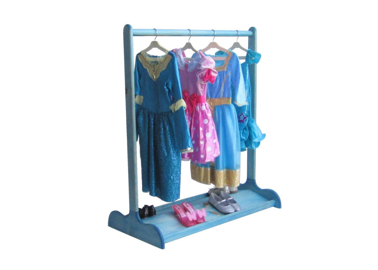 Dress Up Stand For Kids / Double-Sided Shoe Rack / Sapphire pertaining to Childrens Double Rail Wardrobes (Image 21 of 30)