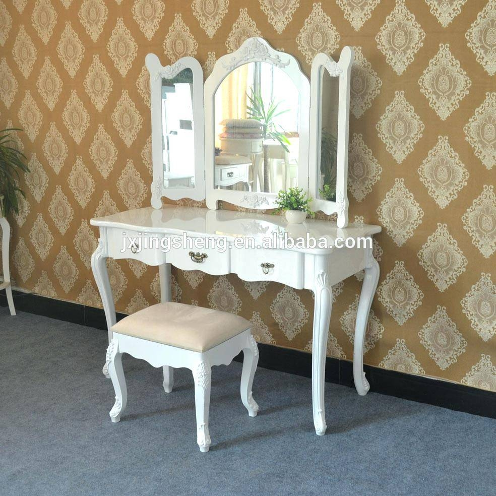 Dressing Table With Mirror White – Amlvideo in Decorative Dressing Table Mirrors (Image 9 of 25)