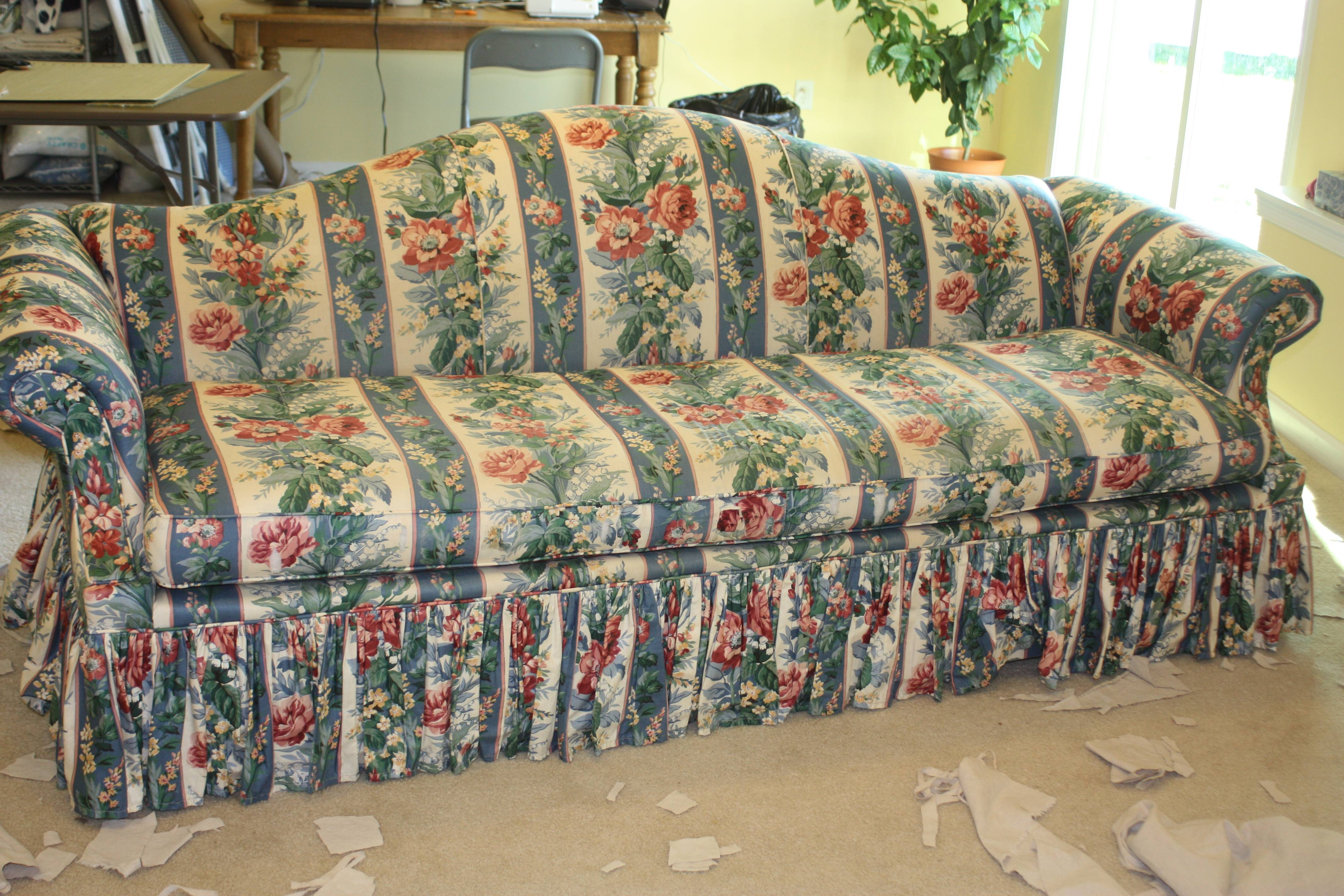 Drop Cloth Sofa | Twill Slipcover Studio inside Chintz Floral Sofas (Image 21 of 30)