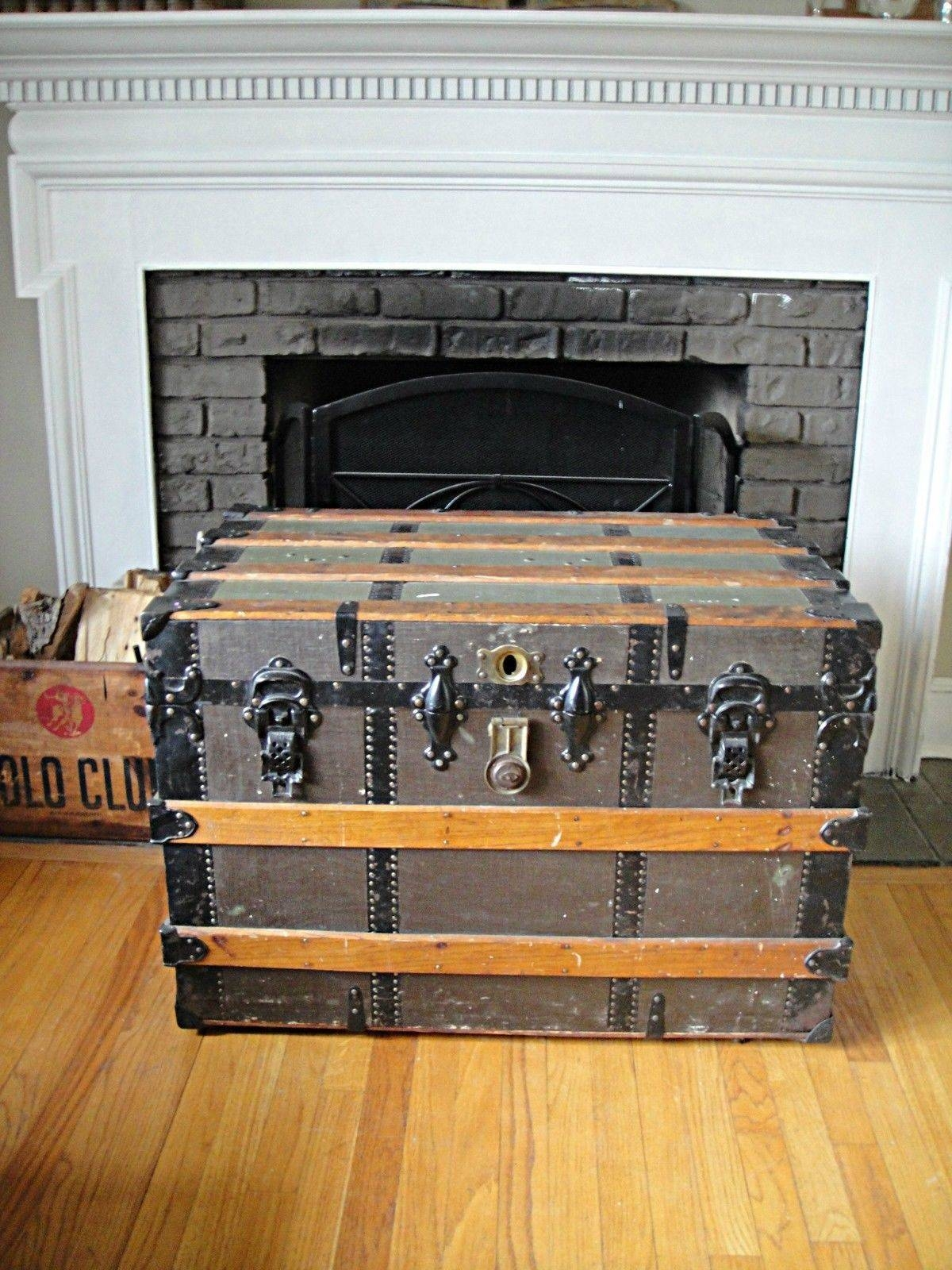 Drop Dead Gorgeous Steamer Trunk Coffee Table Stainless Steel pertaining to Steamer Trunk Stainless Steel Coffee Tables (Image 10 of 30)