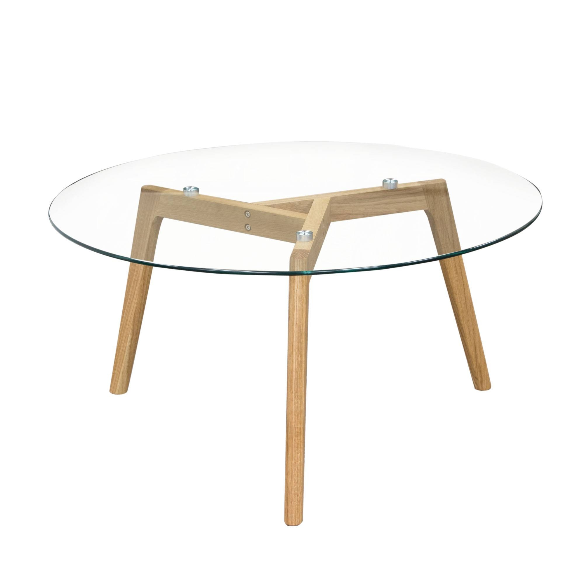 Ds Coffee Table Round Monarch – Pop N Décor with regard to Oak And Glass Coffee Tables (Image 8 of 30)