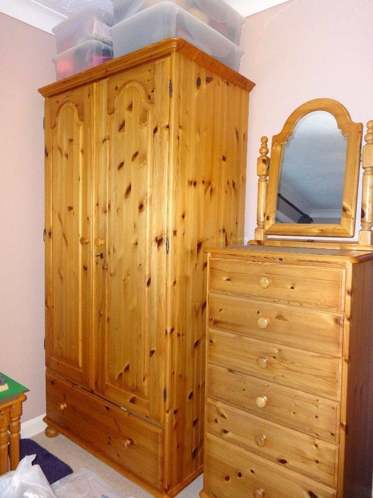 Ducal – Suite Of Bedroom Furniture ( 8 Items ) In Natural Pine Inside Natural Pine Wardrobes (View 8 of 15)