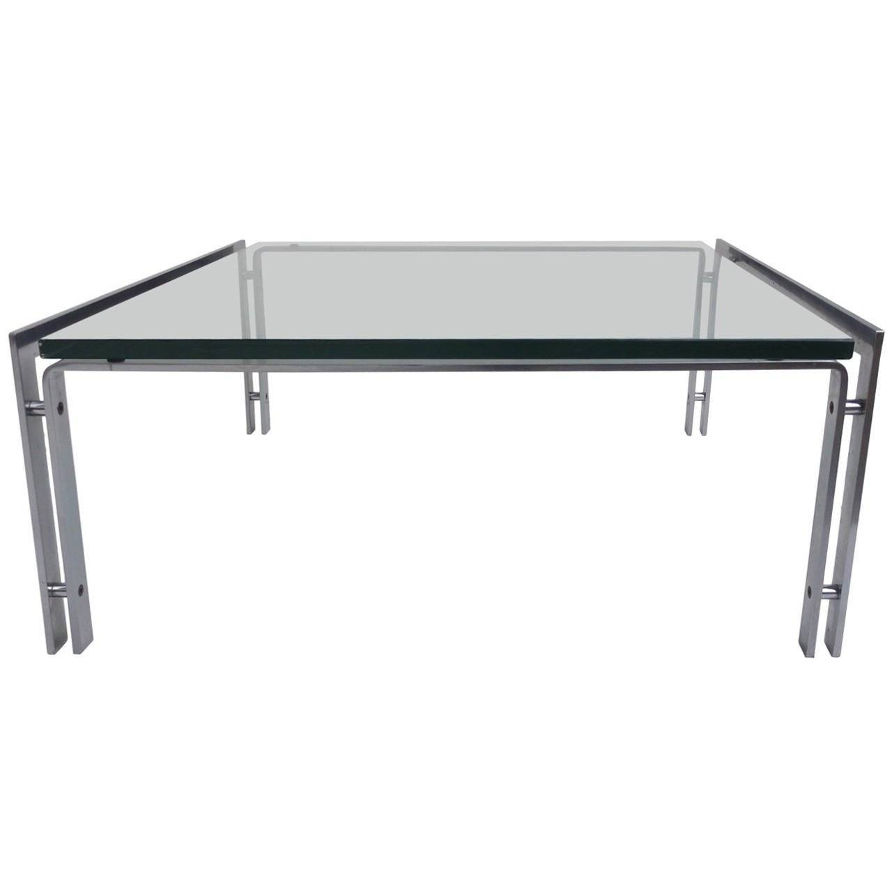 Dutch Metaform Steel And Glass Coffee Table In The Style Of Poul Within Steel And Glass Coffee Tables (View 12 of 30)