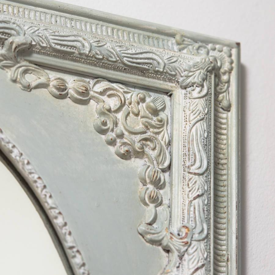 Dutch Oval French Hand Painted Ornate Mirrorhand Crafted with regard to Ornate French Mirrors (Image 13 of 25)