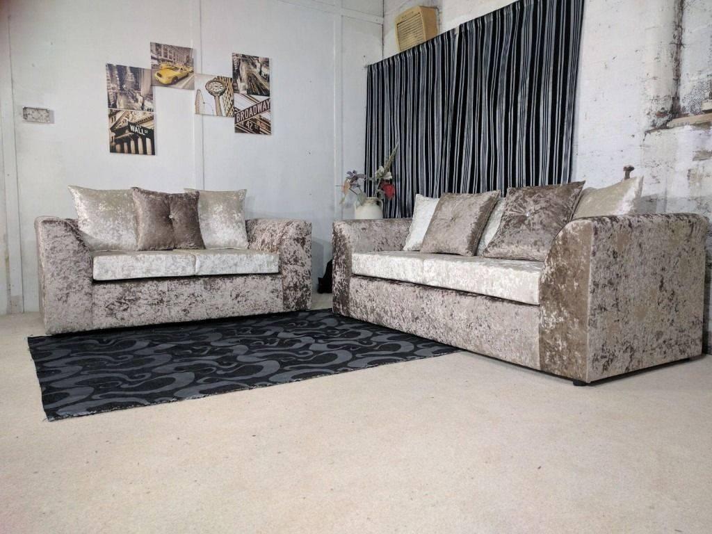 Dylan Velvet Brown/mink 3+2 Or Corner Sofa Or Swivel Chair | 1 within Corner Sofa And Swivel Chairs (Image 16 of 30)