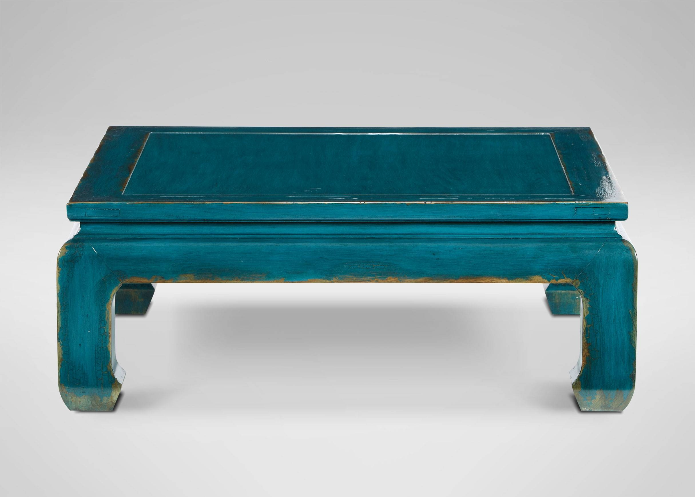 Dynasty Square Coffee Table | Coffee Tables pertaining to Blue Coffee Tables (Image 22 of 30)
