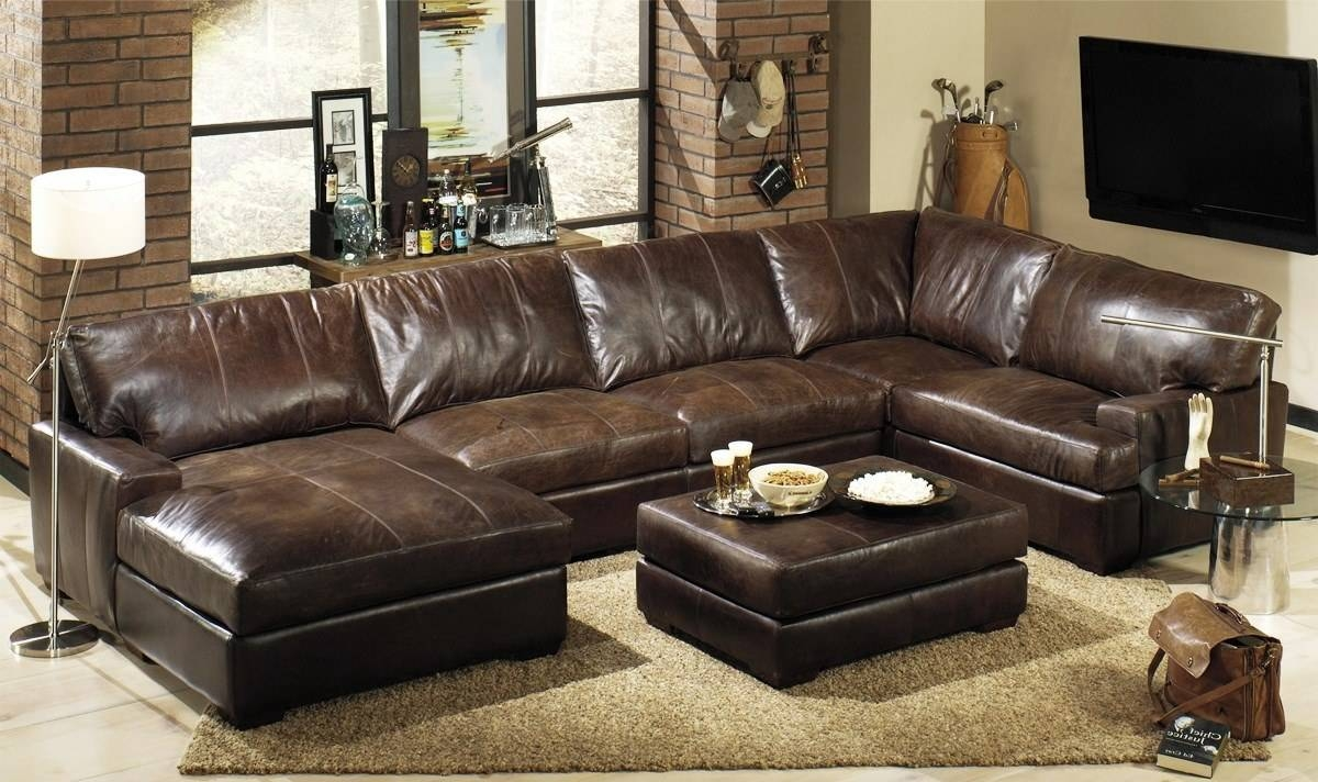 ▻ Furniture : Oversized Leather Sectional Sofa How To Take A within Oversized Sectional Sofa (Image 30 of 30)