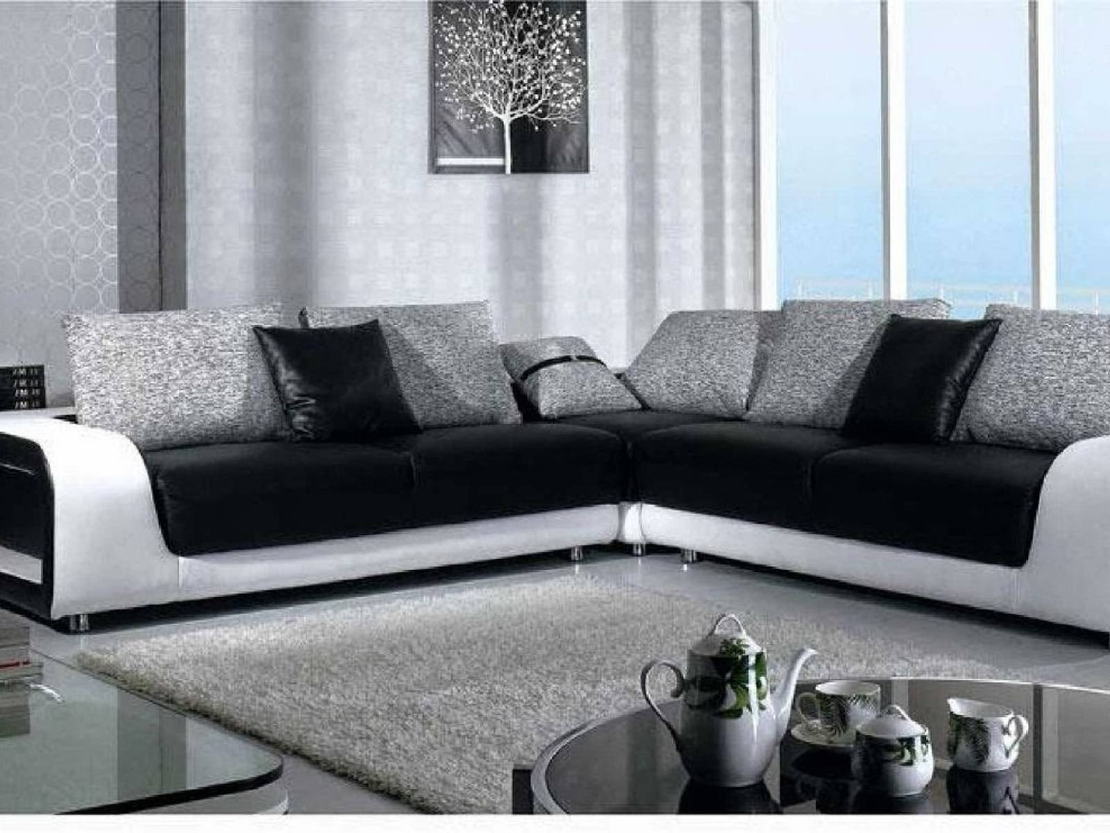 ▻ Sofa : 14 Black Couch Black And White Couch With 89 Wonderful throughout Black And White Sofas (Image 27 of 30)