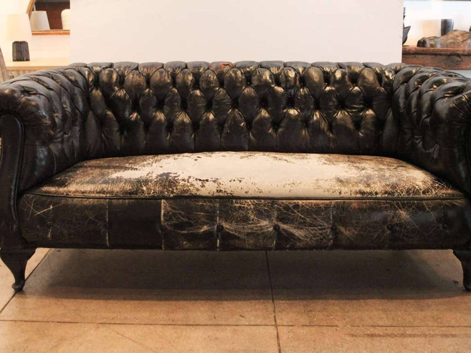 ▻ Sofa : 2 Lovely Used Chesterfield Sofa Leather Chesterfield intended for Small Chesterfield Sofas (Image 28 of 30)